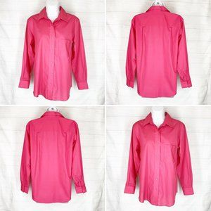 Foxcroft Shirt Size 4 Solid Pink Wrinkle Free